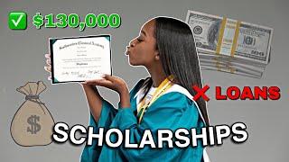 How I earned 130,000+ in scholarship money// Scholarship Tips & List
