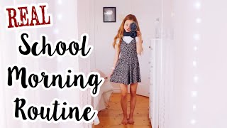 My REAL Morning Routine For High School!
