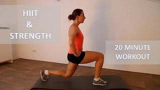20 Minute HIIT and Strength Combination Workout For Fat Loss – Cardio Workout With No Equipment by FitnessType