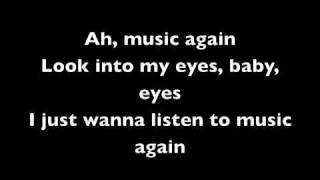 Adam Lambert - Music Again Lyrics