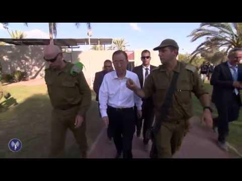 Ban Ki-Moon, visite un tunnel terroriste