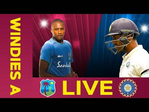 🔴LIVE West Indies A vs India A | Day 3 | Third Test