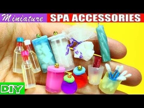 100% Real Miniature Body Care, Spa and Bath Accessories – 10 Easy DIY Doll Crafts