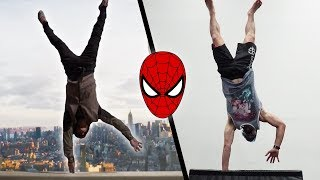 Doing Stunts From The Amazing Spider-Man In Real Life (Spiderman Parkour)