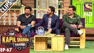 Sunny Deol Bobby Deol And Shreyas Talpade With Kapil Sharma  The Kapil Sharma Show – 11th Dec 2016