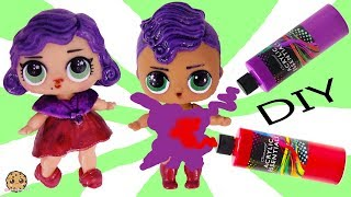 DIY LOL Surprise Boy Peanut Butter & Jelly Brother Doll Craft Makeover Painting Video 2