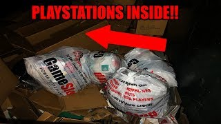 FOUND 4 PLAYSTATIONS! We hit the PlayStation JACKPOT dumpster diving at Gamestop!!!