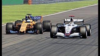 McLaren F1 2018 vs McLaren F1 2005 - Monza