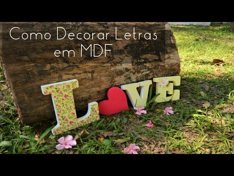 Decorar letras