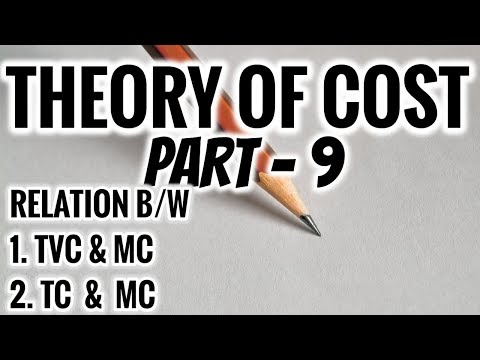 RELATION BETWEEN TVC & MC | TC & MC | THEORY OF COST IN ECONOMICS | PART 9