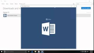 Windows 10 - Installing, Pinning And Using A Word Mobile App From The Windows Store