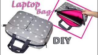 DIY INDISPENSABLE Laptop Bag // How To Make Laptop Case With Outside Pocket [sewingtimes]