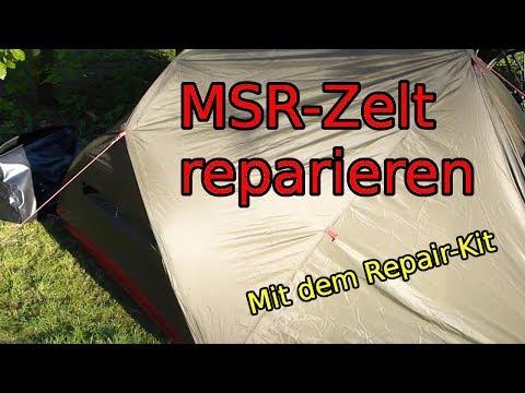 MSR Zelt reparieren, flicken und kleben