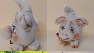 Супер Просто!!! Самая простая и симпатичная свинка из капрона! Мастер класс!