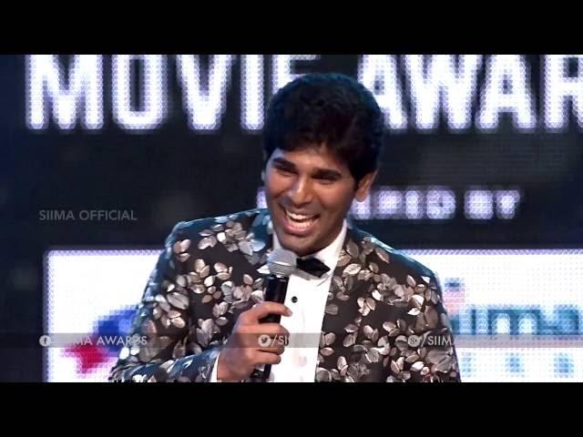 Allu shirish Hilarious comedy with Ali at SIIMA 2016
