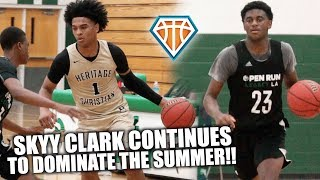 BACK TO BACK 4-POINT PLAYS?! 🤭 | Skyy Clark vs 4-STAR Sleeper Kennedy Dixon in Summer League Game