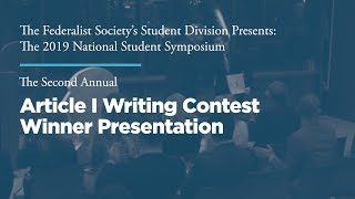 Click to play: The Second Annual Article I Writing Contest Winner Presentation