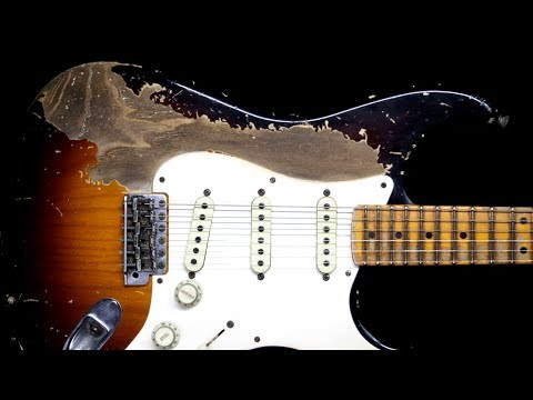 Dark Blues Groove Guitar Backing Track Jam in F# Minor