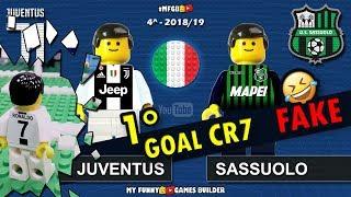 Juventus Sassuolo • 1 Goal Ronaldo Serie A 2018/19 (16/09) CR7 Juve Highlights Lego Calcio Football