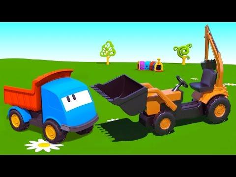 Cartoni animati per bambini - Leo il camion curioso e la pala meccanica