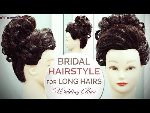 Bridal Hairstyle Wedding Bun Tutorial For Long Hair Step