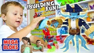 Giant Swapping Mega Bloks Toy Building + Surprise! (Skylanders Swap Force FUN!) Wash B. & Magna C.