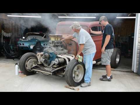 Starting A 1934 Plymouth Hot Rod for the First Time in 30 Years
