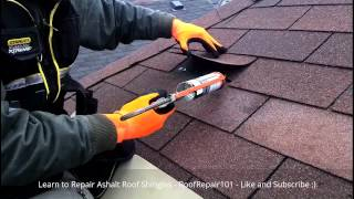 REPAIR ROOF SHINGLES - Replace Missing Aspahlt Roofing Shingles Step by Step Guide