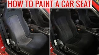 DIY Painting Car Seats To Change The Color   How To, Tips And Precautions