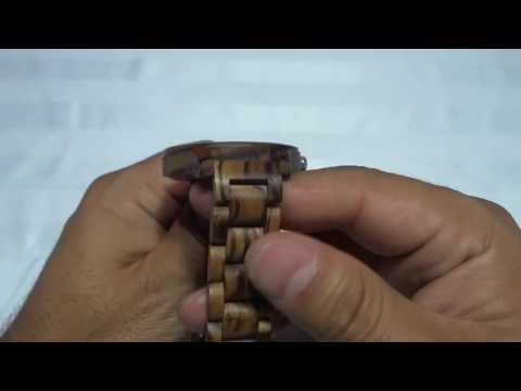 Jord Wooden Watch Review-Frankie Series-Zebrawood And Navy