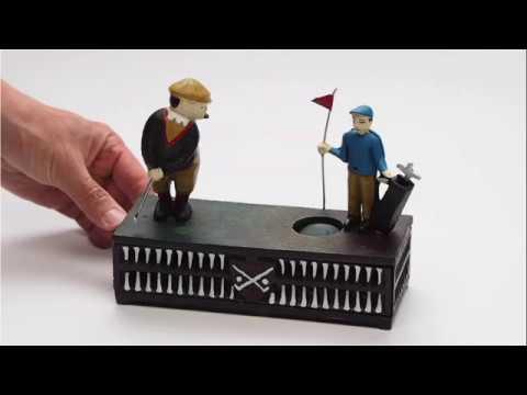 Auktionshaus Bad Homburg Aubaho Spardose Birdie Putt Golf Golfspieler Antik-Stil Dekoration
