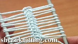 Hairpin Lace Strip Beautiful Cord In The Middle Tutorial 16 Single Crochet Around Loop