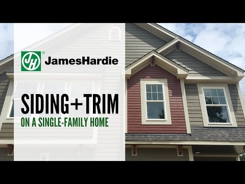 Trim is the final touch that completes your home's design.  Accentuate corners, columns, fascia, doors, windows and more with HardieTrim materials.  They are the perfect complements to James Hardie siding. Both products offer a long-lasting protection from the elements and a beautiful, natural look.
