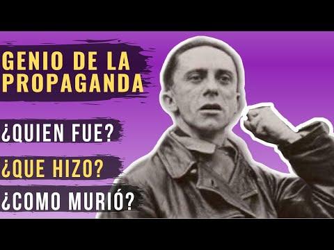 El infame ministro de la propaganda: Joseph Goebbels