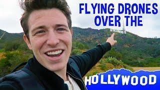 FLYING THE DJI MAVIC PRO OVER THE HOLLYWOOD SIGN | Zack Bergman