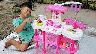 Trò Chơi Nhà Bếp Hiện Đại ❤ ChiChi Kids TV ❤ Đồ Chơi Trẻ Em Bé Doli Nấu Ăn