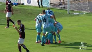 Tjaš Begić scores against NK Triglav