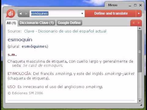 Definición de esmóquines