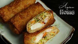Pork and Shrimp Egg Rolls