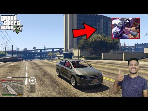 GTA 5: HONDA CITY WITH LOGITECH G29 STEERING WHEEL | @AJ Gaming ON @Gaming Tak