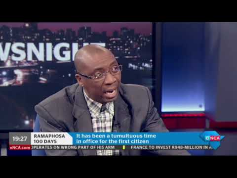 Dr Mazwe Majola discussing Ramaphosa's 100 days in office