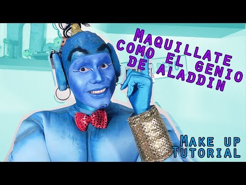 Maquillaje Inspirado en EL GENIO de #Aladdin | The Genie Make Up Tutorial || @MikeAponte06