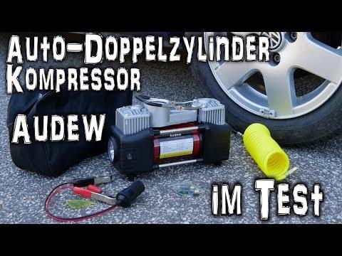 AUDEW Luftkompressor Doppelzylinder Unboxing/Test/Review | HD+ | Deutsch