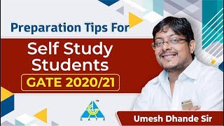 Preparation Tips For Self Study Students | GATE 2020/21