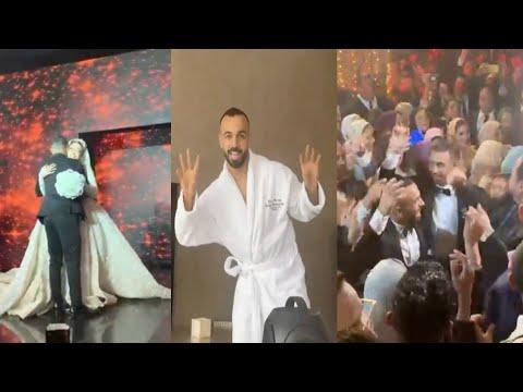 حفل زفاف أفشة كامل.. رقص العريس مع نجوم مصر وايهاب توفيق يحيي الفرح