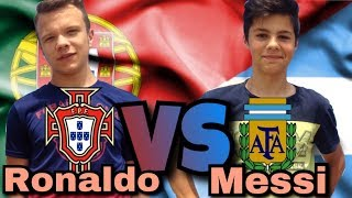 Португалия VS Аргентина Ronaldo VS Messi