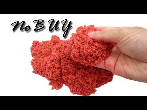 2 Ways To Make Kinetic Sand Without Flour at Home! Easy and Simple Kinetic Sand Recipes