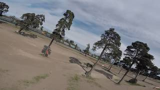 FPV Drone Freestyle (Latvia) ... Some trees and a motocross track