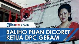 Setelah di Blitar, Kini Baliho Puan Maharani di Surabaya juga Dicoreti hingga Ketua DPC Geram