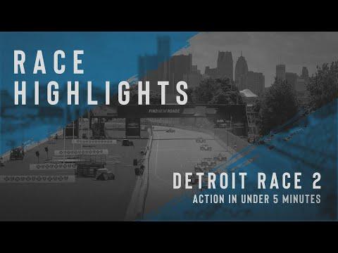 インディーカー第7戦 デトロイト1 決勝レース2ハイライト無料動画